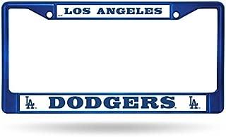 Rico Industries MLB LA DODGERS BLUE CHROME LICENSE PLATE FRAME