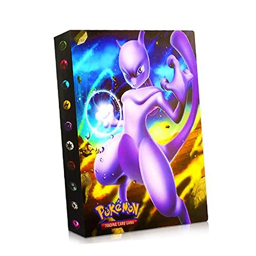 bsdppt Album compatible con cartas Pokemon 2021, Libro cromos álbum, Sobres tcg archivador, Fundas juguetes, Soporte para álbum, Capacidad para 240 cartas - m103