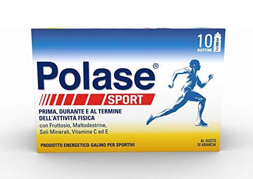 Polase Sport Prodotto energetico - salino per sportivi con Sali Minerali, Maltodestrine, Fruttosio e Vitamina C ed E, prima, dopo e durante l'attività fisica, Senza Glutine, 10 bustine