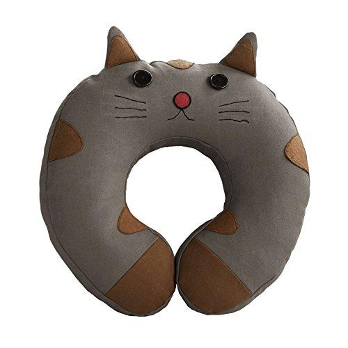 Black Temptation [Little Cat]la Almohadilla del Cuello de la Lona en Forma de U Almohada de Viaje