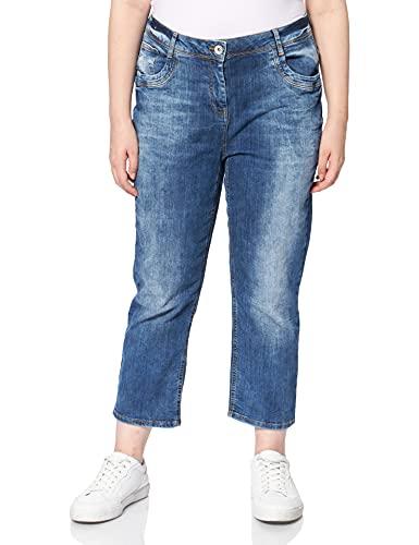 Cecil Damen Toronto Jeans, mid Blue wash, W30/L24