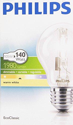 Philips 25226225 Classic 30 E27 A60 Brilliantes Halogenlicht 105W, klar