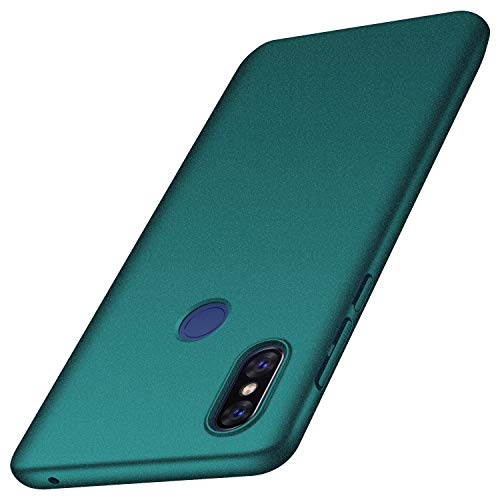 Xiaomi Mi Mix 3 Case, Almiao [Ultra-Thin] Minimalist Slim Protective Phone Case Back Cover for Xiaomi Mi Mix 3 (Gravel Green)