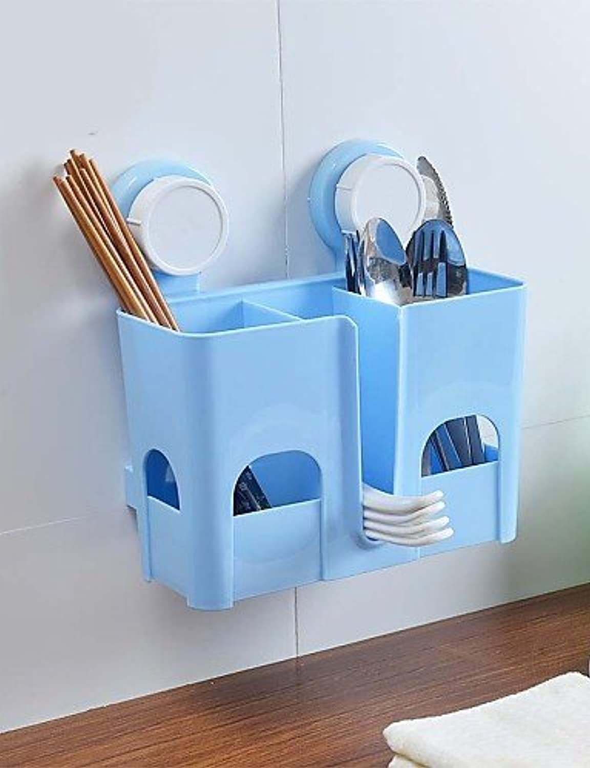 KHSKX Colourful Strong Sucked Type PP Bathroom Or Kitchen Basket , bluee