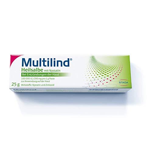 MULTILIND Heilsalbe - Zinksalbe bei Entzündungen der Haut mit dem Anti-Pilz Wirkstoff Nystatin und antibakteriellem Zinkoxid - 1 x 25 g Salbe