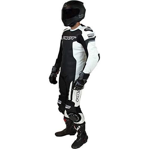 Pilot Motorsport Unisex-Erwachsene Rival Anzug, 1 Stück (schwarz/weiß, Größe 40)