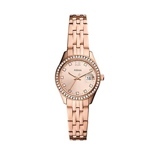 FOSSIL Reloj Analógico para De Las Mujeres de Cuarzo con Correa en Acero Inoxidable ES5038