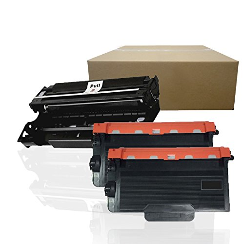 Inktoneram Compatible Toner Cartridges & Drum Replacement for Brother TN850 DR820 DR-820 TN-850 MFC-L6800DW MFC-L6900DW MFC-L5850DW MFC-L5700DW ([Drum, 2-Toner], 3-Pack)