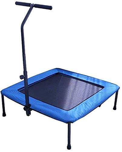 BZLLW Trampoline,Fitness Trampoline,Quiet and Joint-gentle Bungee Ropes–Rebounder Trampoline with Height Adjustable Handle,Max Weight 100kg