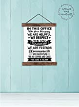 Wood & Canvas Wall Hanging in This Office We are A Team Wall Art Décor Sign 12x14.5-Inch