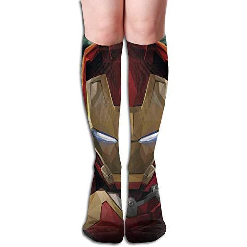NHUXAYH Calcetines hasta la rodilla Calcetines Iron Man Art Funny Dress Calcetines para niña Mujer