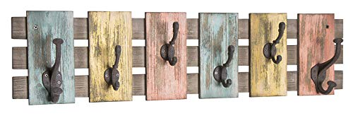 Haku Möbel Wandgarderobe - Garderobenhaken Massivholz 6 Haken Breite 81 cm