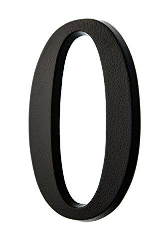 HUBER Hausnummer Nr. 0 Aluminium pulverbeschichtet anthrazit/schwarz 20 cm, edles dreidimensionales Design