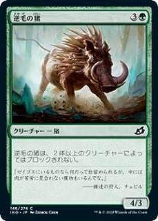 マジックザギャザリング IKO JP 146 逆毛の猪 (日本語版 コモン) イコリア:巨獣の棲処 Ikoria: Lair of Behemoths