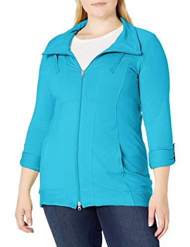 Neon Buddha Women's Plus Size Ameena Jacket, Turquoise, M