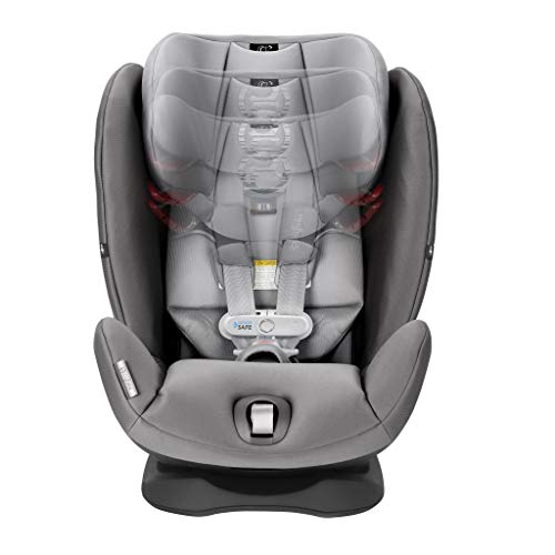 Cybex Gold Eternis S All in 1 Convertible Toddler Baby Infant Rear or Forward Facing Car Seat with SensorSafe, Manhattan Grey