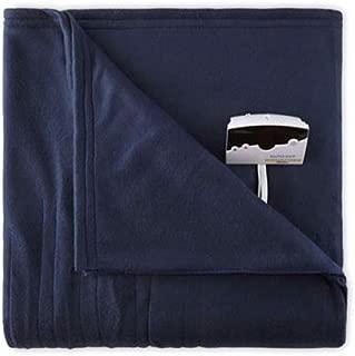 Biddeford 1000-9052106-544 Comfort Knit Fleece Electric Heated Blanket Twin Navy Blue