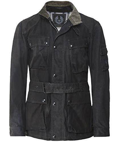 Belstaff Sunbleached Cotton Trialmaster Jacket Black-54