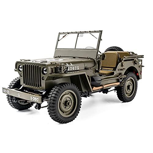 Myste 1:12 RC Ferngesteuertes Auto mit LED-Beleuchtung, 2.4G RC Jeep Auto Militär LKW Spielzeug 1941 MB Scaler Allrad Geländewagen, Kletterauto Baufahrzeug Kreative Geschenke Kinder und Erwachsene