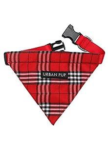 UrbanPup Pull pour chien Bandana Carreaux Tartan Rouge