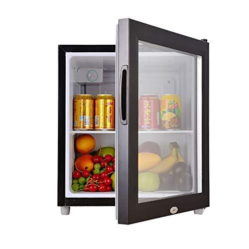 QIU 50L litros Mini Nevera, refrigerador, refrigerador de 5 etapas de 5 etapas Clase silenciosa Habitaciones de Hotel o dormitorios Puerta de Vidrio Transparente