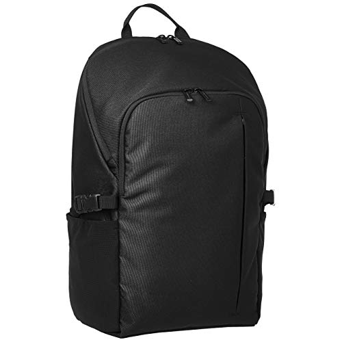 AmazonBasics – Unirucksack aus Leinen, für Laptops bis 38 cm (15 Zoll), schwarz