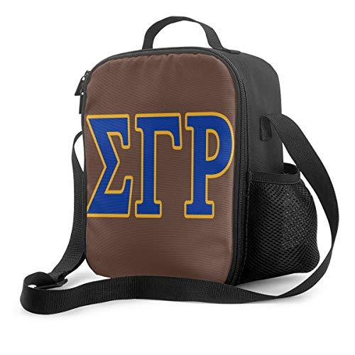 Lunch Bags Reusable Snack Bag for Women/Kids School Work Travel Sports Sigma Gamma Rho Logo