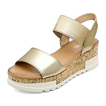 Best gold flatform sandals Reviews
