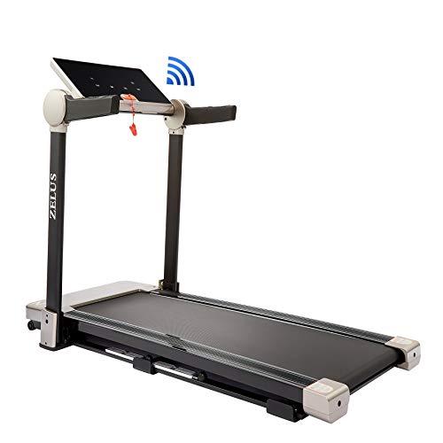 Z ZELUS Laufband Klappbar Heimtrainer bis 12 km/h für Lauftraining mit APP Steuerung Treadmill 12 Programme bis 100kg (12 km/h) Fitness Laufband Lauffläche 120X40CM Laufband mit Steigung