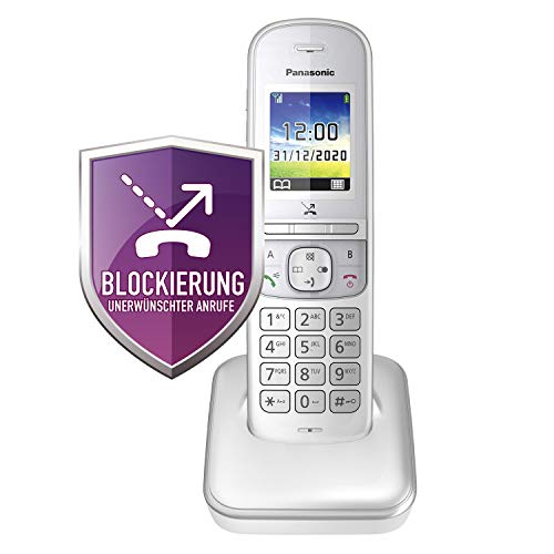 Panasonic KX-TGH710GG Schnurlostelefon ohne Anrufbeantworter (DECT Handy, strahlungsarm, Farbdisplay, Anrufsperre, Freisprechen) perl-Silber