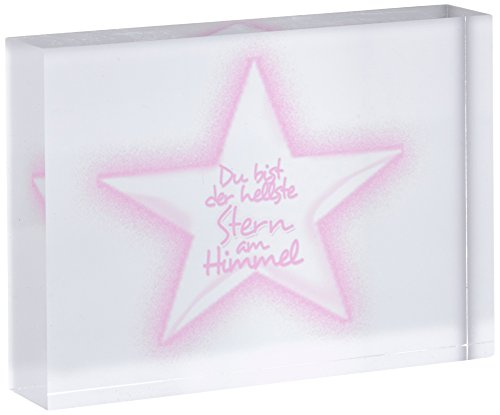 Little Helper STARS-A7BLK-06G - Blocchetto decorativo con diamante lucido, colore giallo