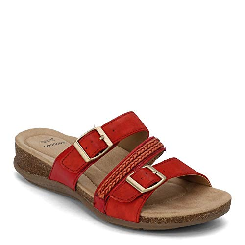 Earth Origins Women's, Bosk Baylen Slide Sandals RED 8 M