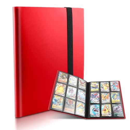 Porte-Cartes à Collectionner, Album Classeur pour Cartes à Collectionner, Album Classeur de Cartes d'Échange Porte Carte Pokemon 360 Cartes 9 Pochettes, Cahier Gamme Classeur Carte