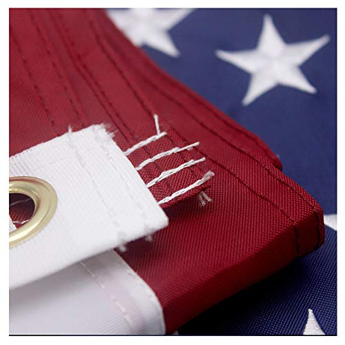 VSVO American Flag 2.5x4 Ft - Heavyweight US Outdoor Flags, Embroider Stars, Sewn Stripes, Brass Grommets.