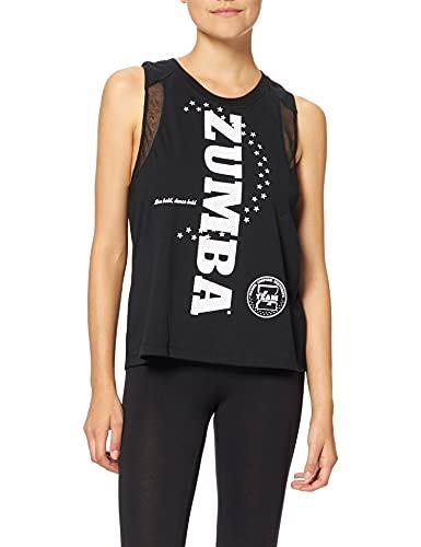 Zumba Negro Gimnasio Camisetas Tirantes Mujer Suelta Fitness Entrenamiento Deportivo Top Tank Tops, Talk Black, Medium Womens