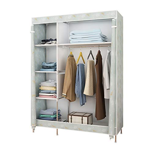 Zunruishop Wardrobe Storage/Wardrobe Simple Portable Wardrobe, Wardrobe Storage Bag, Easy to Store, Equipped with Metal Shelves, Non-Woven Fabrics and Hanging Rods Portable Closet
