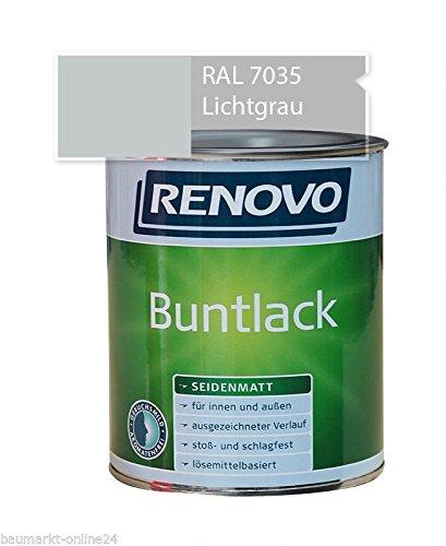 Buntlack 2,5 L RAL 7035 Lichtgrau Seidenmatt Renovo