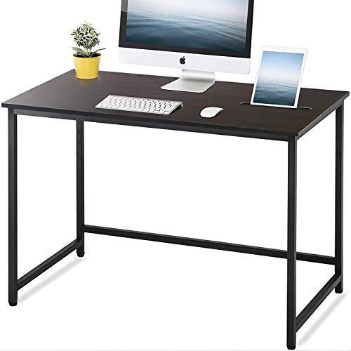 FITUEYES Mesa de Ordenador Marrón Escritorio de Computadora para Oficina Hogar X 110 * 60 * 75 cm, CD111001WB