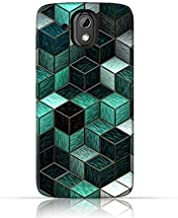 HTC Desire 526G plus TPU Silicone Case with Cubes Design.