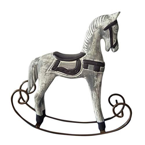Healifty Ornamento a Dondolo in Legno a Dondolo Figura di Cavallo Vintage a Dondolo Decorazione della Festa Nuziale retrò Albero di Natale Appeso Ornamento