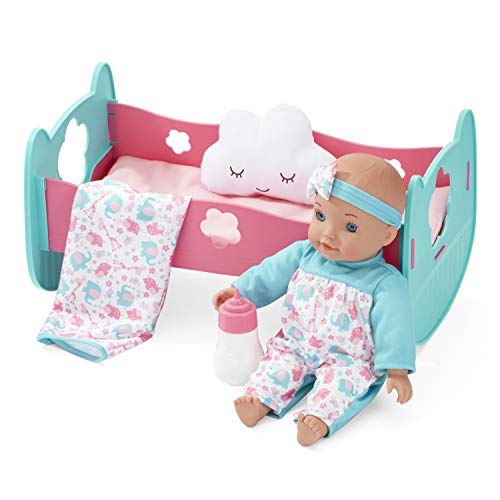 """You & Me Baby Doll & Convertible Cradle, 12"""" (AD20613)"""