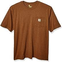 Carhartt mens K87 Workwear Short Sleeve T-shirt (Regular and Big & Tall Sizes) work utility t shirts, Oiled Walnut Heather, Large US