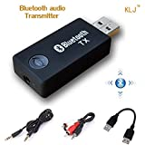 USB Transmisor Bluetooth, kanglongjia Portátil Inalámbrico Música Adaptador Transmitter Estéreo 3.5mm para Hogar y Sistemas del Sonido Coches (TV, Ordenador, Auriculares, Altavoz, )