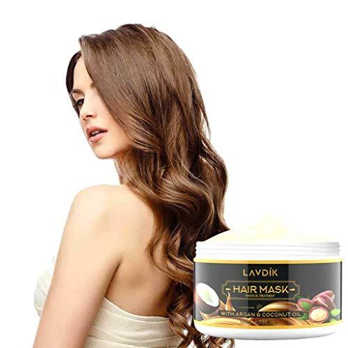 50ml Hair Masque-Magical Hair Masque Traitement Nourrissant Doux Lisse Réparation Dommages Professionnel Advanced Molecular Hair Roots Treatment Care Repair Cheveux Conditionneur (50 ml)