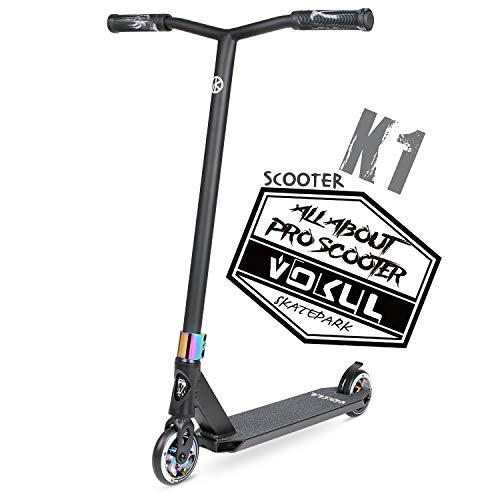 VOKUL BIZT K1 Pro Scooter, Stunt-Scooter für Kinder ab 7 Jahren, Anfänger bis Fortgeschrittene, Freestyle-Scooter für Tricks mit 110-mm-Legierungsrädern, Neo Chrom