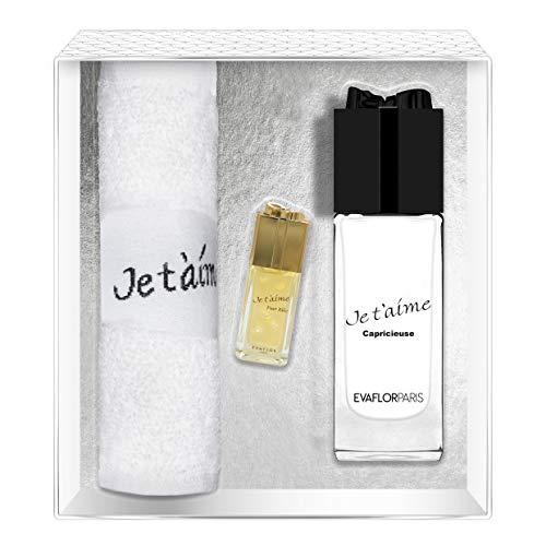Evaflorparis Je T'Aime Capricieuse Gift Box Eau de Parfum 100 Ml + Miniature 7.5 Ml + Hand Towel Set Women Spray for Her Women Perfume Evaflorparis 520 g