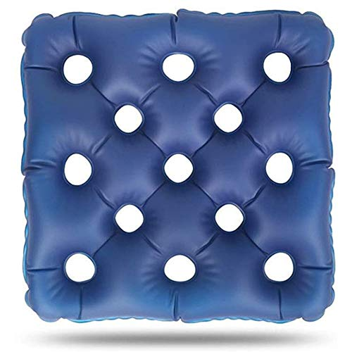 DMYY Medical Air Mattress Health Wheelchair Cushion Anti-Decubitus Decompression Breathable Elderly Patients Anti-Pressure Sore Hip Inflatable Pad Foldable And Easy To Carry (Color : Blue)