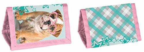 Studio Pets - Cartera para perros (12 x 8,5 x 1 cm), color azul y rosa
