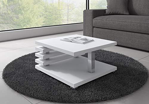 Oslo Tavolino da salotto da 60 cmx 60cm, colore: bianco opaco