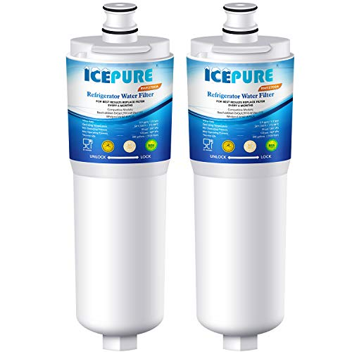 ICEPURE CS-52 Refrigerator Water Filter, Compatible with Bosch 640565, Whirlpool WHKF-R-PLUS, EVOLFLTR10, 3M Cuno CS-52, CS-51, CS-450, CS-451, CS-452, 5553629, 55866-05, 55866-06, 5586606, Pack of 2